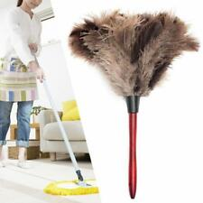 1x 35CM Ostrich Feather Duster Brush Anti-static Long Wooden Handle Home New Z#