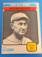 1973 Topps #475 Ty Cobb All-Time Batting Leader  EX-MT+ to NM