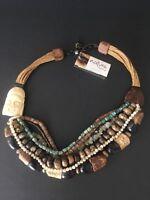 Nature Bijoux Paris BUDDHA SEED Necklace Ethnic Boho NWT