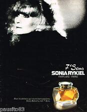 PUBLICITE ADVERTISING 055  1983  SONIA RYKIEL  parfum femme 7° SENS