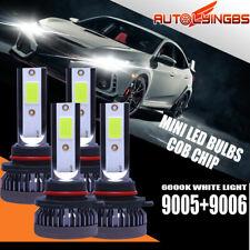 4PCS 9005+9006 LED Headlight Hi+Low Beam Bulb 6000K Light 220W 60000LM Headlamp