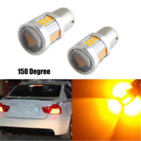2pcs Error Free Yellow 18SMD BAU15S 7507 LED Bulb For Car Turn Signal Lights 12V