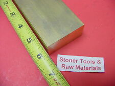 """1"""" x 2"""" C360 BRASS FLAT BAR 6"""" long Solid 1.00"""" Plate New Mill Stock H02"""
