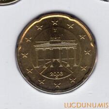 Allemagne 2003 20 centimes G Karlsruhe BU FDC provenant coffret 180000 exemplair