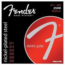 Genuine Fender 250 M Nickel Acier Plaqué Cordes pour guitare électrique régulier 11-49