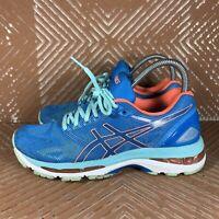 Asics Gel-Nimbus 19 Diva Blue Flash Coral Women's 6.5 Running Shoes T750N