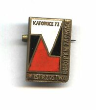 pin badge European Wresling Championship - Katowice 1972 Lutte ringen