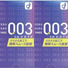 Okamoto Zero Three 0.03mm Condoms Smooth 2Packs 10Pieces/1Box Made in Japan