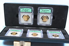 2007 5 Piece Proof Dollar Set in Display Box all ICG PR70 Dcam