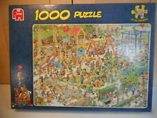 JUMBO JAN VAN HAASTEREN THE PLAYGROUND 1000 PIECE JIGSAW PUZZLE USED COMPLETE