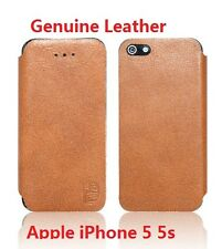 Genuine Leather Flip Case Cover for Apple iPhone 5 / 5s