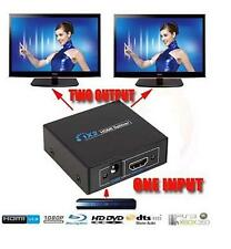 HDMI Splitter Amplifier 2 Output 1 Input 2 Way Switch for HDTV PS3 PS4 3D 1080P