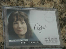 4400 Autograph Card Natash Wagber as April Skouris A15
