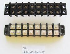 1x Kulka Marathon 602 GP2202 08, 8 Position, Double Row, 300V 30A Terminal Block