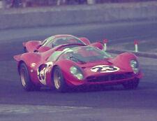 16 X 20 1967 Daytona 24 Winner Ferrari 330 P4 Amon / Bandini Watercolor Print