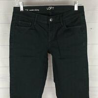 Ann Taylor LOFT Modern Skinny Womens Size 4 Stretch Dark Green Low Jeans LNC