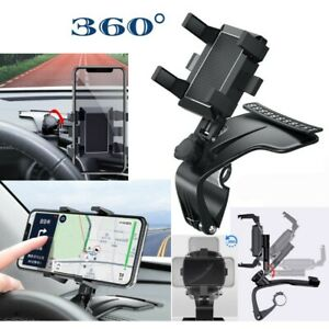 Universal  Black Clip On Dashboard Mobile In Car Phone Holder Mount Stand Cradle