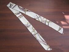 White Silk Twilly Scarf Handbag Tie Silk Tie Rope Belts Circles Tassels Violet