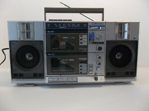 Vintage EMERSON CTR949 Dual Cassette AM/FM/Phono Stereo Radio Boombox