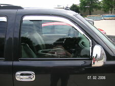 Chrome Trim Window Visors Fits 2000-2006 GMC Yukon (Front Only)
