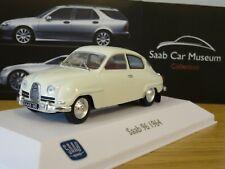 ATLAS EDITIONS MUSEUM SAAB 96 1964 WHITE CAR MODEL LM02 1:43