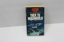 "Vintage Star Trek Soft Cover ""Trek to Madworld"" Bantam 1979 1st Print enterprise"