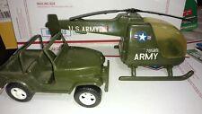 G.I. JOE COMMANDO TEAM GI ARMY MILITARY VEHICLE HELICOPTER JEEP NO. 890 Gay Toys