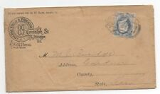 United States used on advertising cover 156 with Chicago fancy name cancel