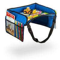 Toddler Car Seat Travel Storage Organizers Tray & Child Play - Side Pockets -