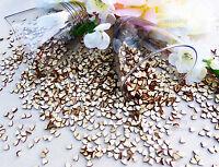7mm Love Hearts Plain Wooden Shabby Chic Craft Scrapbook Vintage Confetti Hearts