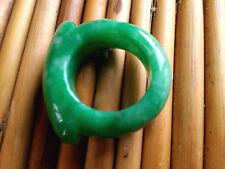 Genuine Chinese natural green jade jewelry ring