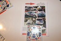 DECALS 1/43 FORD FOCUS WRC COSWORTH DELECOUR RALLYE MONTE CARLO 2001 RALLY