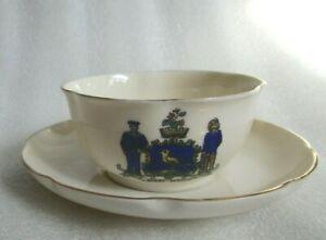 W H GOSS Crested E Mari Merces Halifax NOVA SCOTIA CUP & SAUCER Hand Painted!
