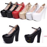 Sexy Women Stiletto Super High Heel Thick Platform  Shoes Sexy Nightclue Pumps
