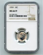 1959 Silver Roosevelt Dime (MS66 FT) NGC High Grade!