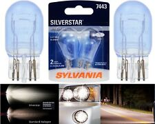 Sylvania Silverstar 7443 25/6W Two Bulbs Brake Stop Tail Park Light Replacement