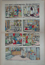 Rare Vintage Imagerie Epinal Pellerin print/Les Sept Sacrements...INV2303
