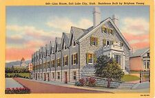 Utah postcard Salt Lake City, Lion House Residence built by Brigham Young