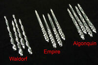 """6"""" Clear Glass Icicles -Combo Pack -Lot of 12 Christmas Ornaments / Decorations"""