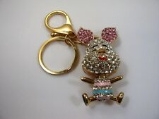 Collectible Keychain: Pig Piglet Very Cute Design Clear Jewels Nice Quality