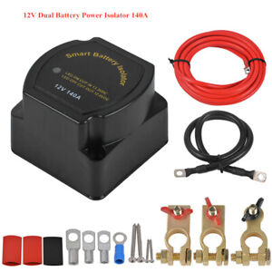 Smart 12V Dual Power Supply System 140A Voltage Sensitive Relay Switch Isolator