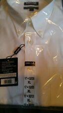 Mens Kirkland Signature 17 XL  White 32/33 Longsleeve Shirt Original PKG