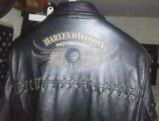 Harley Davidson Vintage Rare Southwestern Leather Jacket Men's 2XL