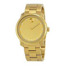 Movado Bold Yellow Gold Diamond Dial Mens Watch 3600374