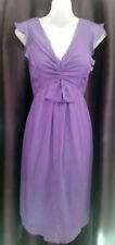 Feminine Leona Edmiston Purple Chiffon dress - Size 8