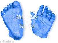 Baby boy gift 3D Casting Kit Cast Foot Handprint Blue Impressions Plaster Hands