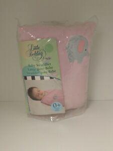 NOJO LITTLE BEDDING BABY SWADDLER BLANKET - PINK ELEPHANT B6