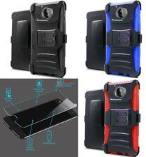 [NP ARMOR] GLASS Screen Guard + HOLSTER Case For Motorola Moto E4 Plus / XT1773