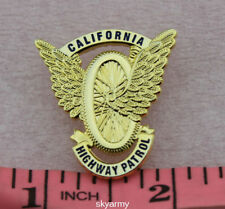 CHP California State Police Gold Badge Highway Patrol Motorcycle Wings Mini PIN