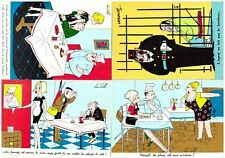 S27448) N.4 Comics French Post Cards